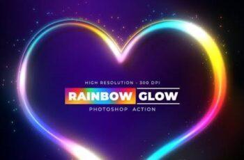 Rainbow Glow - Photoshop Action 25983988 6