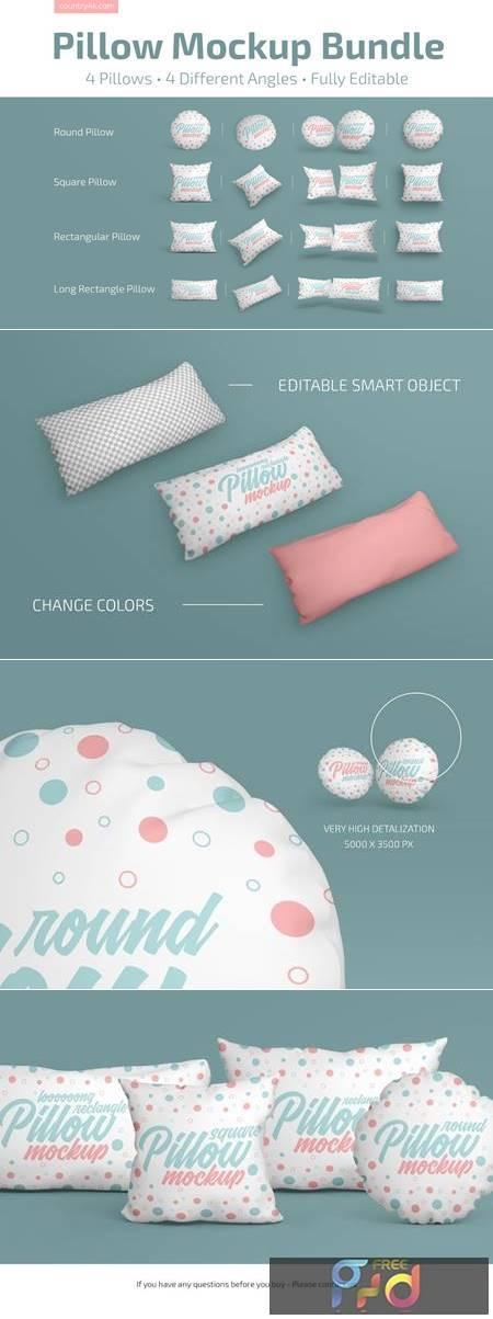 Pillow Mockup Bundle 4883273 1