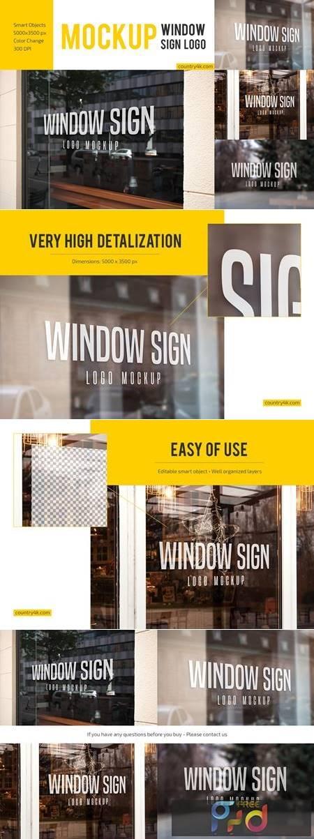 Window Sign Logo Mockup Set 4899035 1