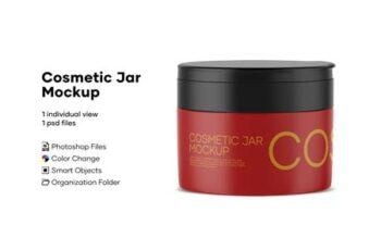 Cosmetic Jar Mockup 4893106