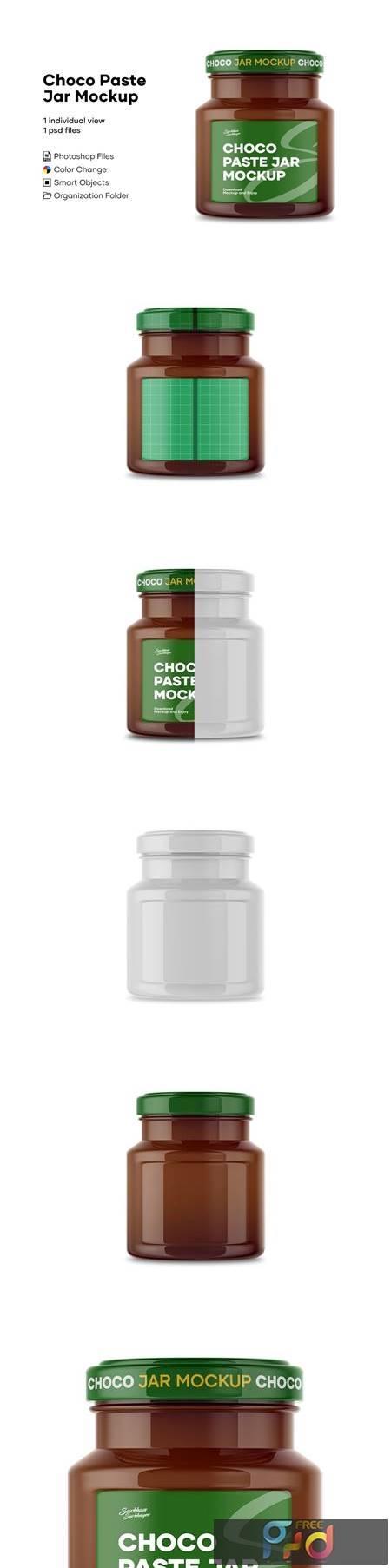 Glass Chocolate Spread Jar Mockup 4893156 1