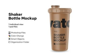 Matte Metallic Shaker Bottle Mockup 4889093 8