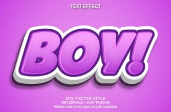 Editable font effect text collection illustration design 3