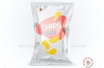 Glossy Snack Package Mockup - Front View 26538212 5