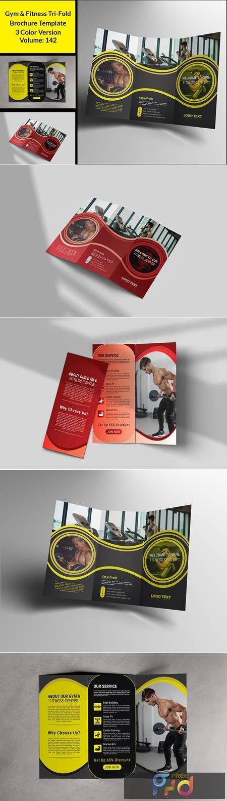 Gym Trifold Brochure Template 4664204 1