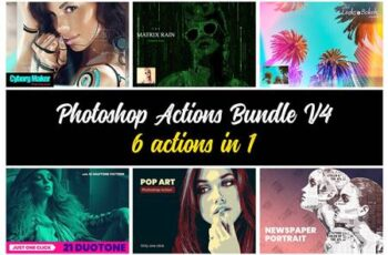 Photoshop Actions Bundle V4 4893446 4