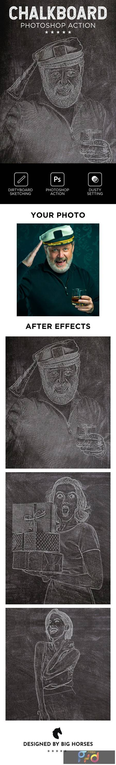 Chalkboard Photoshop Action 26560014 1