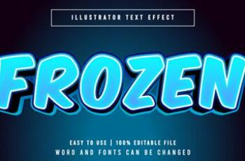Editable font effect text collection illustration design 87 2
