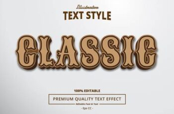 Editable font effect text collection illustration design 90 6