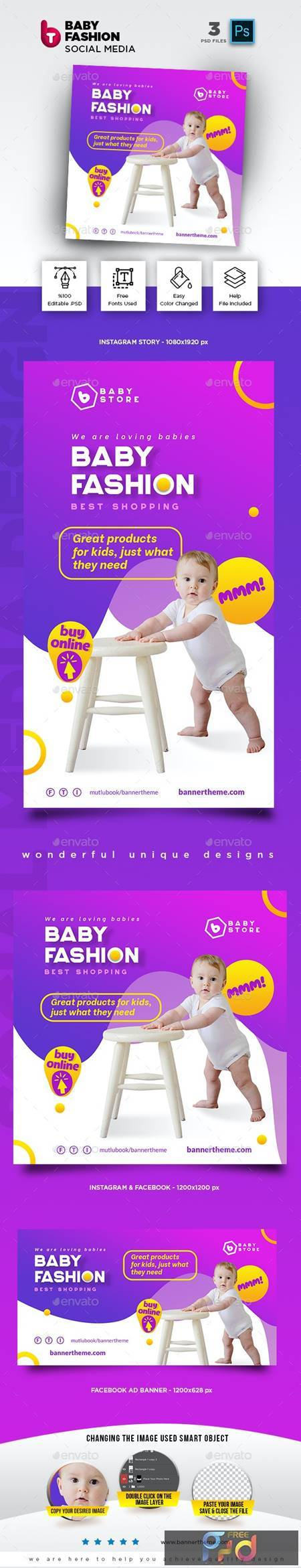 Baby Fashion Social Media Pack 26435839 1