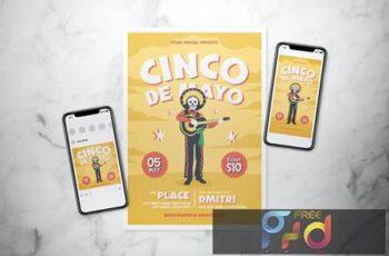 Calavera Music Festival Flyer Set PCNEPKC 5