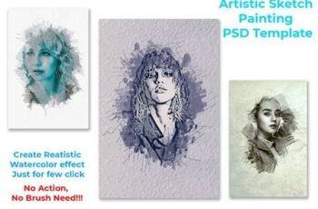 Artistic Sketch Painting Template 4570575 4