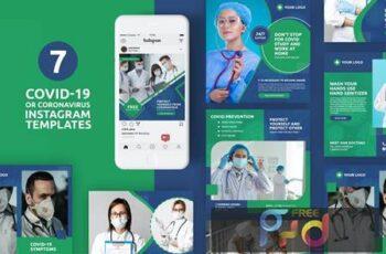 Coronavirus or Covid-19 Instagram Templates EHFGL8B