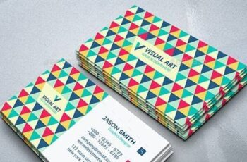 Elegant Colorful Business Card 26494155 3