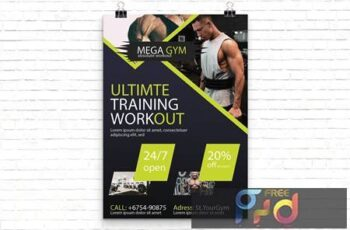 Gym Sport Flyer Template AQR5ZNL 2