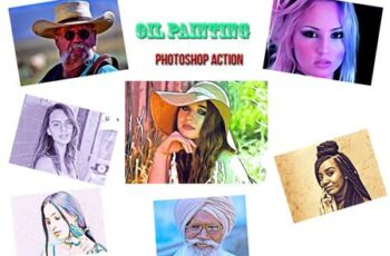 Oil Painting Photoshop Action 4559922 4