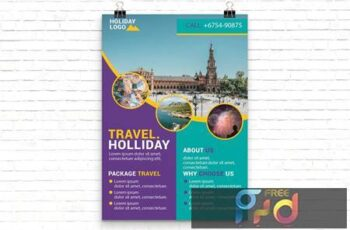 Holiday Travel Flyer Template JD4EV9Y 5