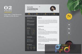 Modern Resume - CV Template D9RBX9Q 3