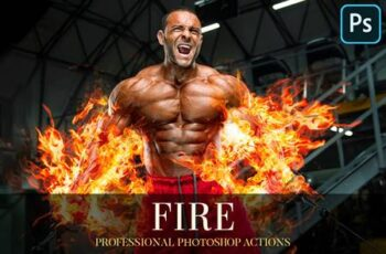 Fire Photoshop Action 4870210