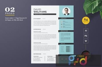 Resume CV Template F8U8FFK 8