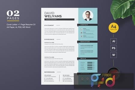 Resume CV Template F8U8FFK 1