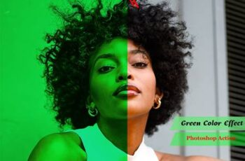 Green Color Effect Photoshop Action 4939667