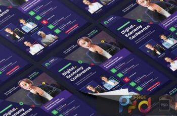 Conference Flyer PSD Template Y5LPL9R