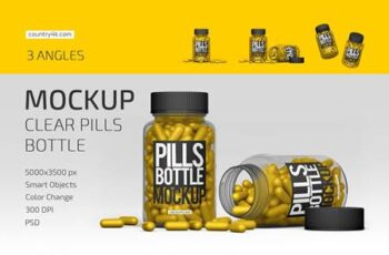 Clear Pills Bottle Mockup Set 4924428 5