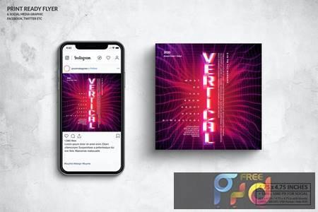 Event Square Flyer & Social Media Post Design B5BLWJF 1
