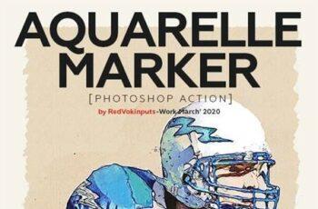 Aquarelle Marker Photoshop Action 25947809 7
