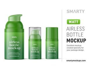 Matte airless bottle mockup 4850583 4