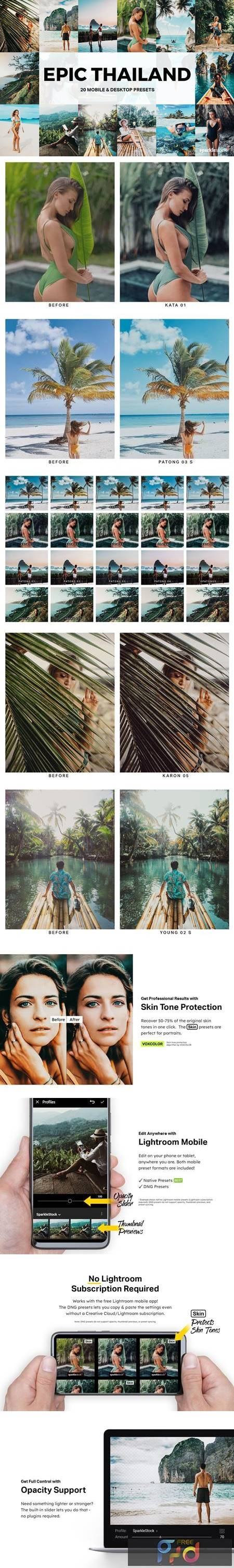 20 Epic Thailand Lightroom Presets and LUTs Q92CY76 1