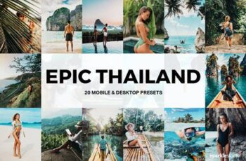 20 Epic Thailand Lightroom Presets and LUTs Q92CY76 5
