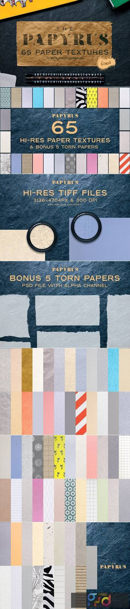 The Papyrus - 65 Paper Textures 4930218 1