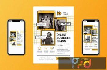 Online Business Class Flyer Set ABV5S2A 3