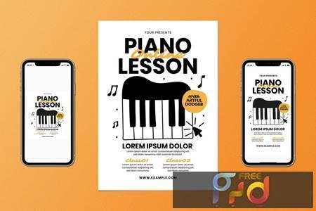 Online Piano Lesson Flyer Set FK5EP9R 1