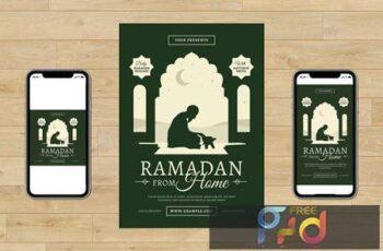 Ramadan From Home Flyer Set HQB3TQ7 8