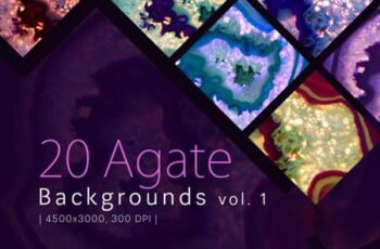 20 Agate Backgrounds Vol. 1 1736037