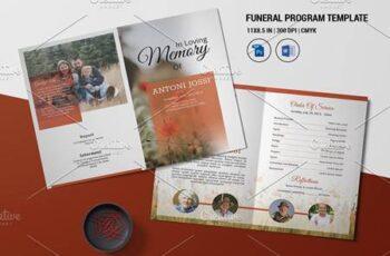 Funeral Program Template - V998 4523291 8
