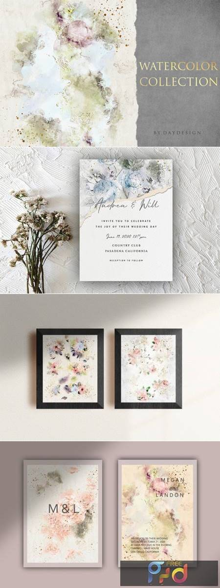Abstract Watercolor Collection Graphic 4088371 1