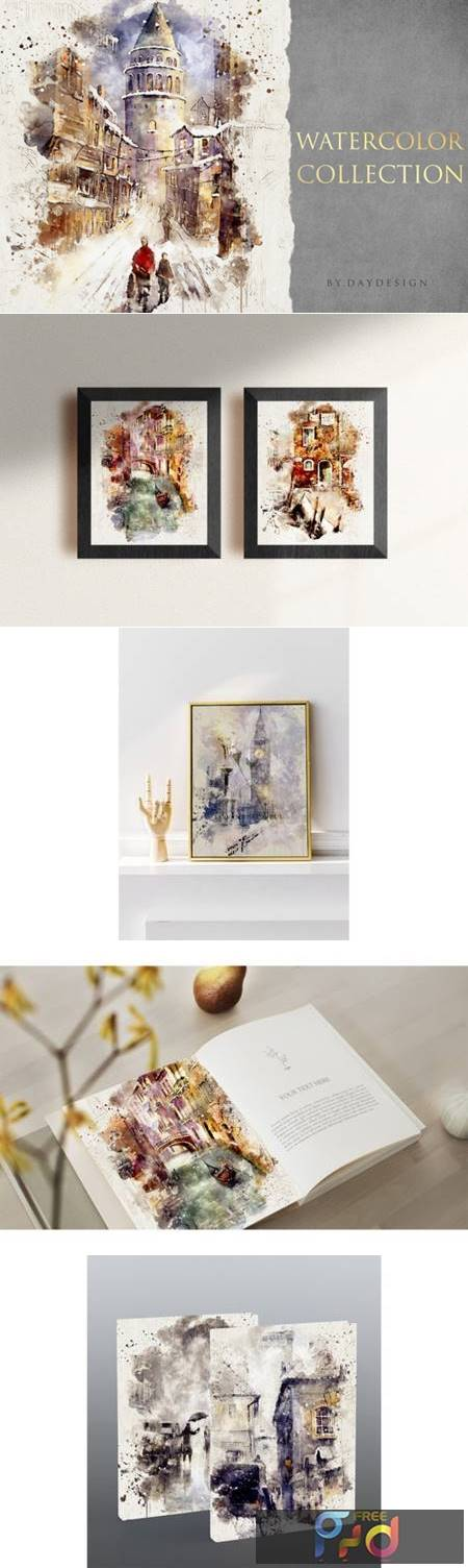 Abstract Watercolor Collection Graphic 4099131 1