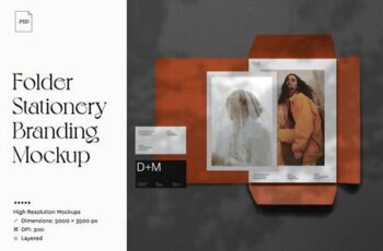 Folder Stationery Branding Mockup 4116781 13