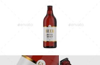 Beer Bottle Amber Glass Mockup 26608374 4