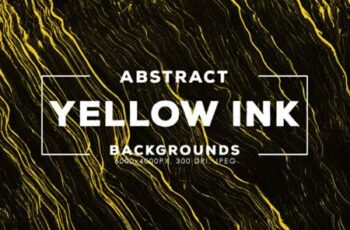 30 Yellow Abstract Ink Backgrounds 1735869