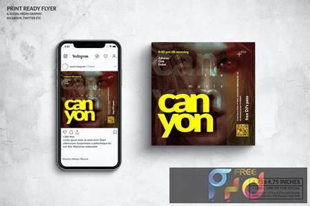 Event Square Flyer & Social Media Post Design XMSPD6N 1