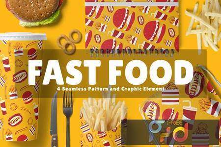Fast Food Seamless Pattern and Graphic Element FANVVQ5 1