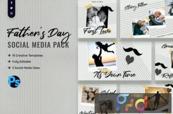 Fathers Day Social Media Template ZZF4M7V 4