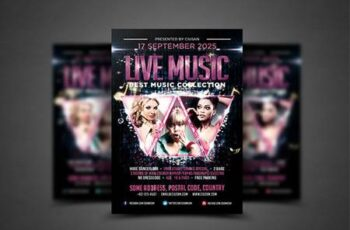 Live Music Flyer Template 4039495 4