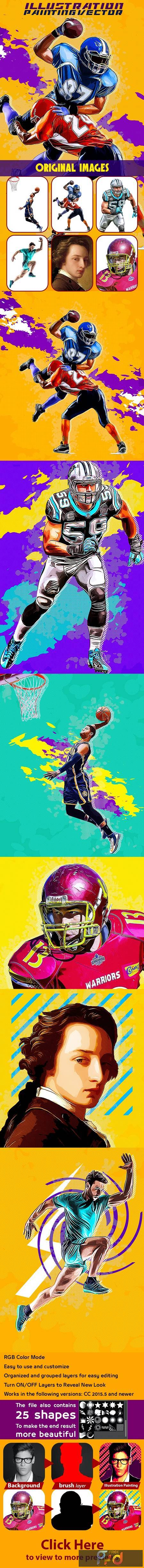 Illustration Painting Vector Action 26581141 1