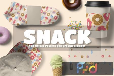 Snack Seamless Pattern and Graphic Element PLBU8PU 1